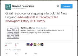 Newport Restoration 5 March 2016