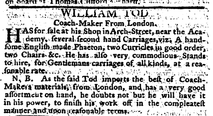 Jun 5 - 6:5:1766 Pennsylvania Journal