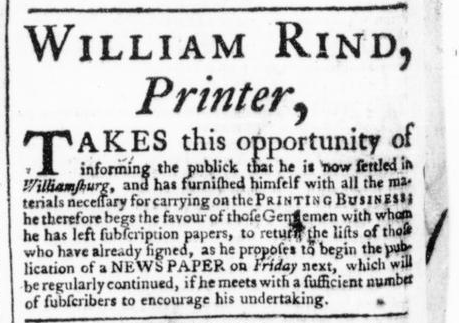 May 11 - 5:9:1766 Virginia Gazette