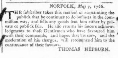 May 24 - 5:23:1766 Virginia Gazette
