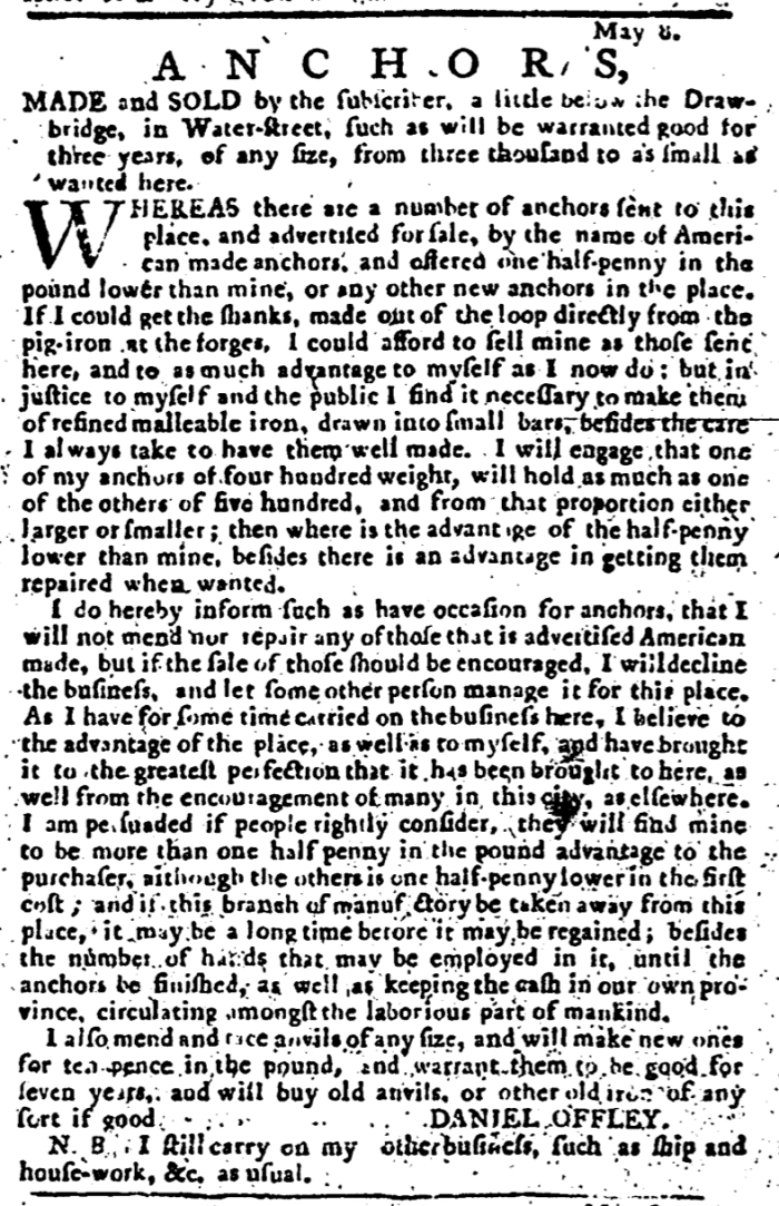 May 8 - 5:8:1766 Pennsylvania Journal