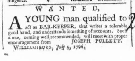 Jul 12 - 7:11:1766 Virginia Gazette