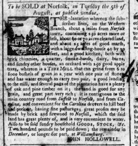 Jul 19 - 7:25:1766 Virginia Gazette