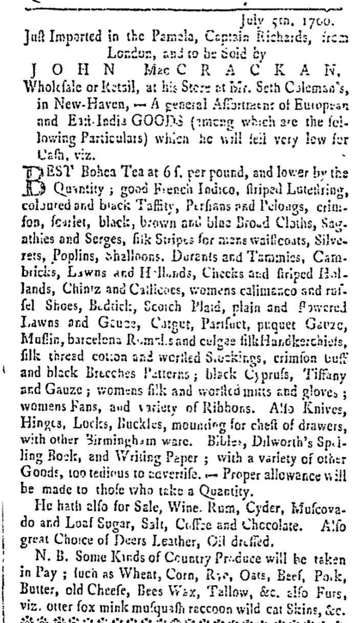 Jul 27 - 7:26:1766 Connecticut Gazette