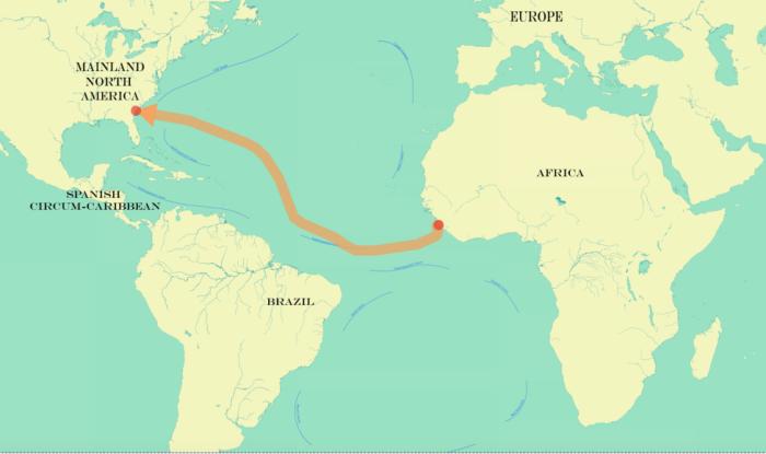 Jul 30 - Slave Voyage Map