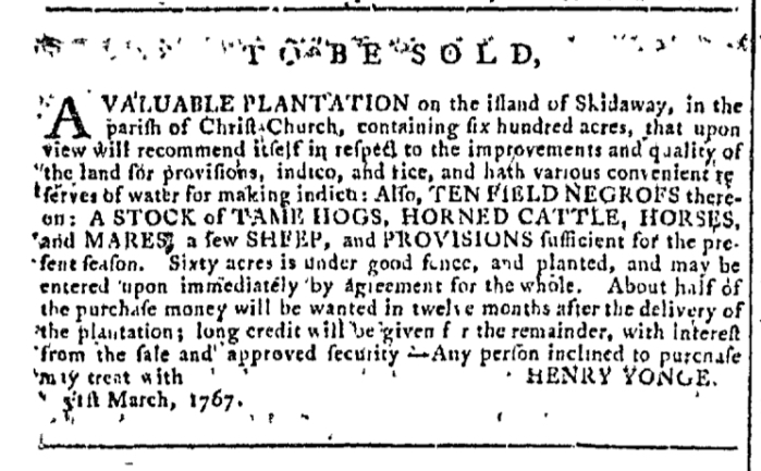 Apr 1 - Georgia Gazette Slavery 1