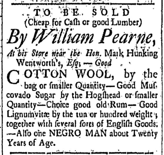 Apr 3 - New-Hampshire Gazette Slavery 2