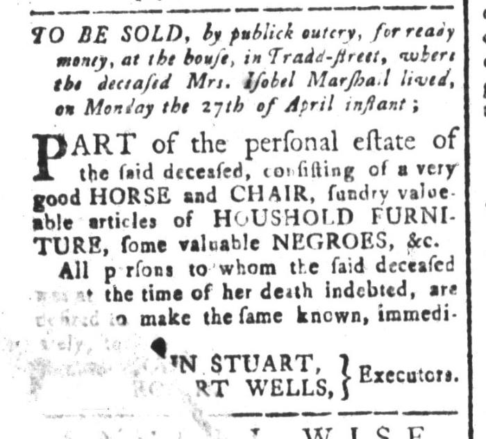 Apr 3 - South-Carolina and American General Gazette Slavery 2