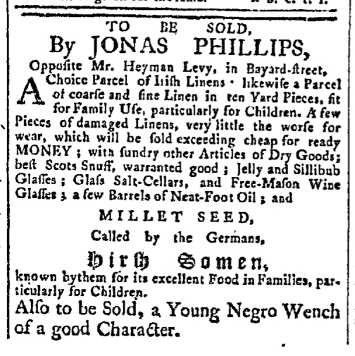 Apr 6 - New-York Gazette Slavery 3