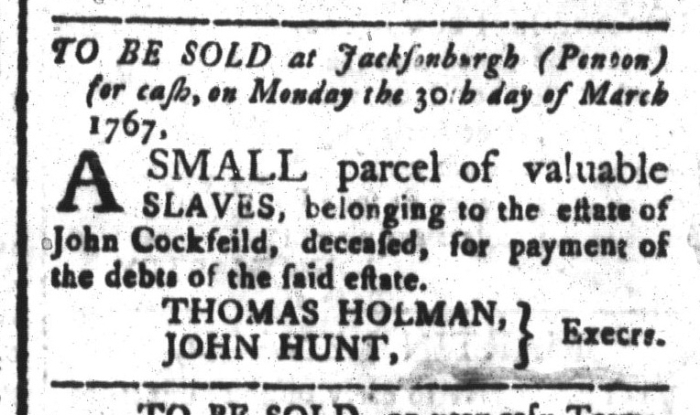 Mar 13 - South-Carolina and American General Gazette Slavery 4