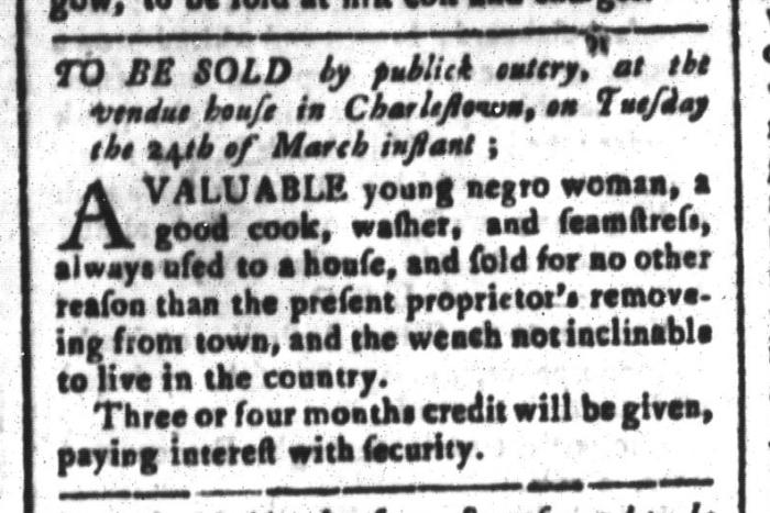 Mar 13 - South-Carolina and American General Gazette Slavery 6
