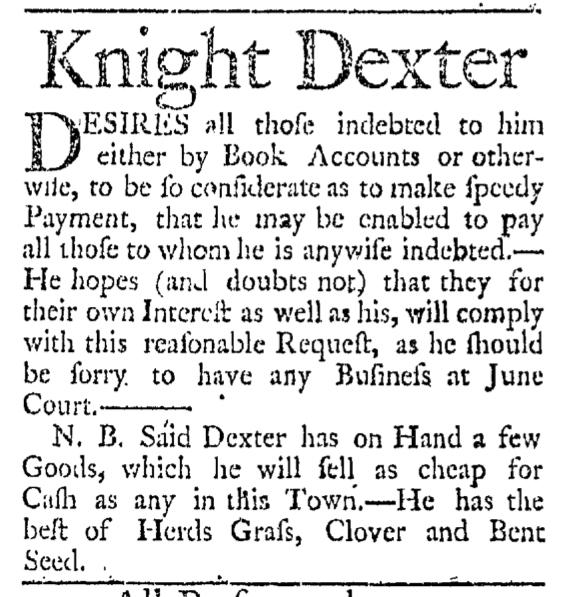 Mar 15 - 3:14:1767 Providence Gazette