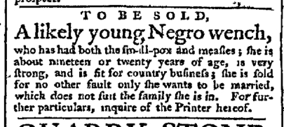 Mar 16 - Pennsylvania Chronicle Slavery 1