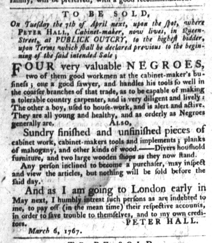 Mar 17 - South-Carolina Gazette and Country Journal Slavery 9