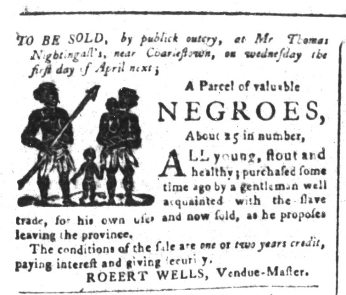 Mar 20 - South-Carolina and American General Gazette Slavery 1