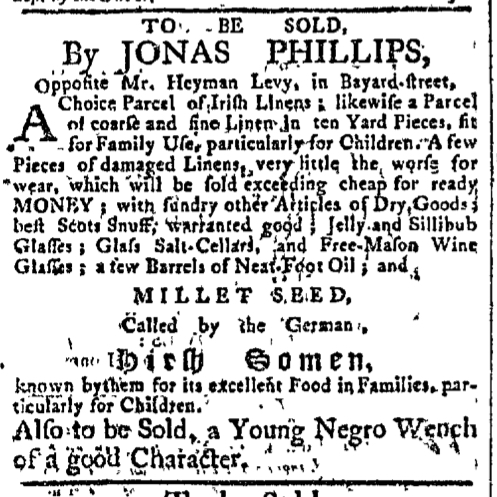 Mar 23 - New-York Gazette Slavery 2
