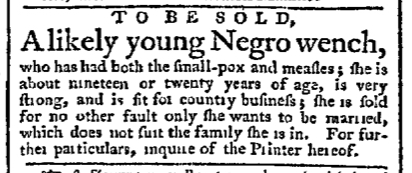 Mar 23 - Pennsylvania Chronicle Slavery 1