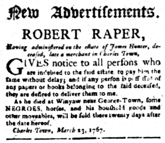 Mar 23 - South Carolina Gazette Slavery 1