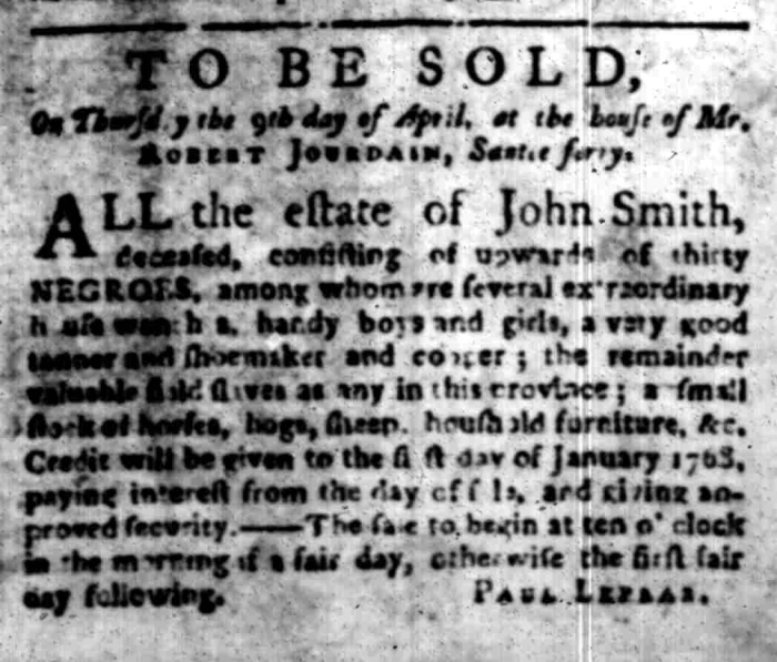 Mar 23 - South Carolina Gazette Slavery 3