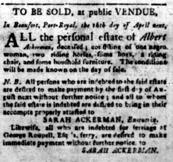 Mar 23 - South Carolina Gazette Slavery 4