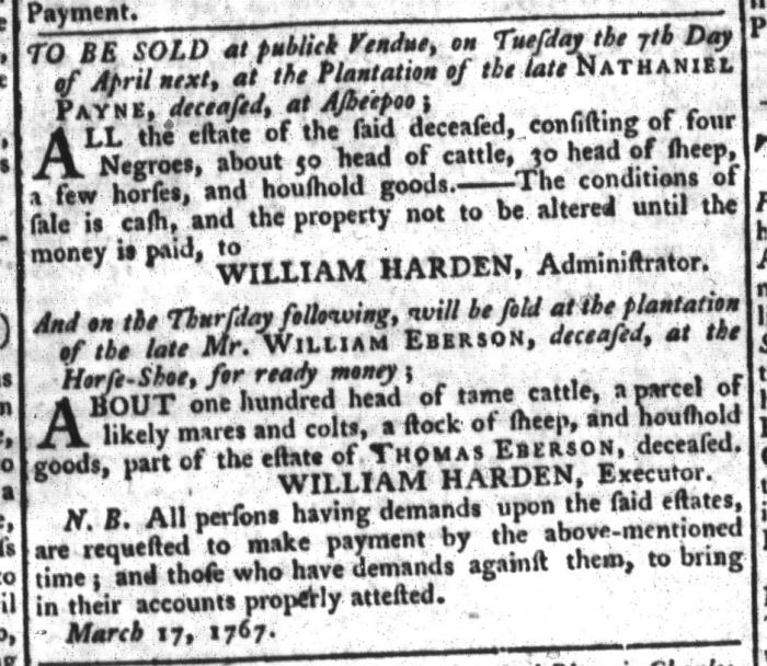 Mar 24 - South-Carolina Gazette and Country Journal Slavery 11