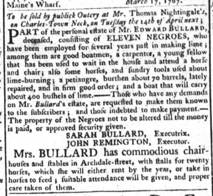Mar 24 - South-Carolina Gazette and Country Journal Slavery 2