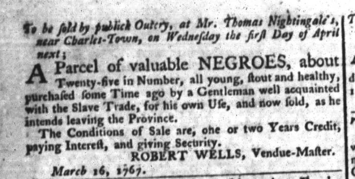 Mar 24 - South-Carolina Gazette and Country Journal Slavery 5
