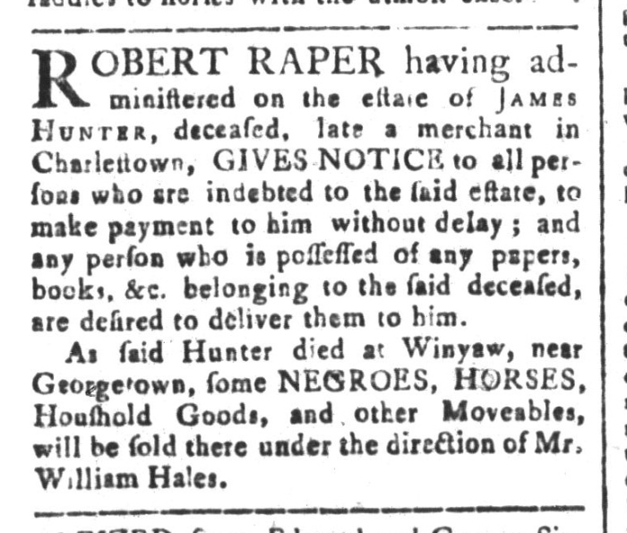 Mar 27 - South-Carolina and American General Gazette Slavery 2