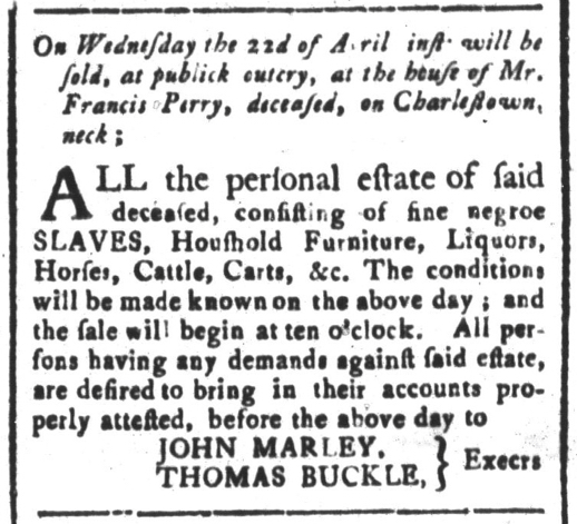 Apr 10 - South-Carolina and American General Gazette Slavery 7