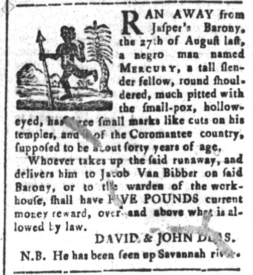 Apr 10 - South-Carolina and American General Gazette Slavery 9