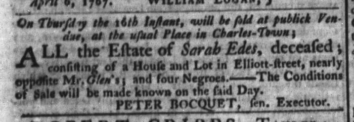 Apr 14 - South-Carolina Gazette and Country Journal Slavery 7