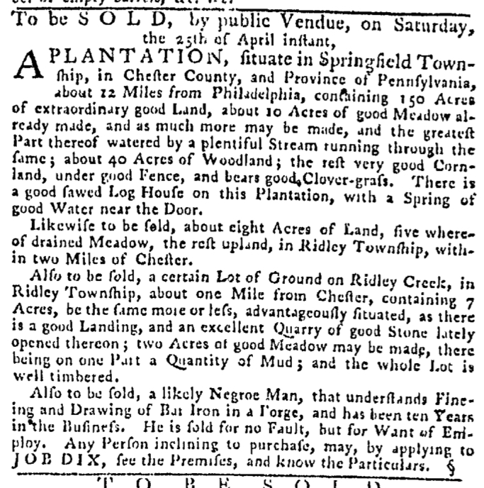 Apr 16 - Pennsylvania Gazette Slavery 4