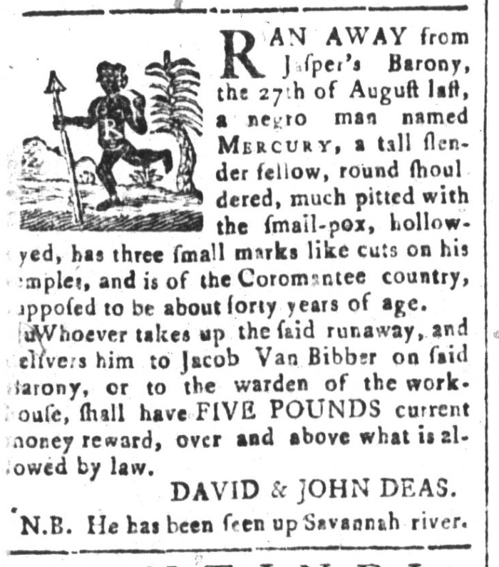 Apr 17 - South-Carolina and American General Gazette Slavery 2