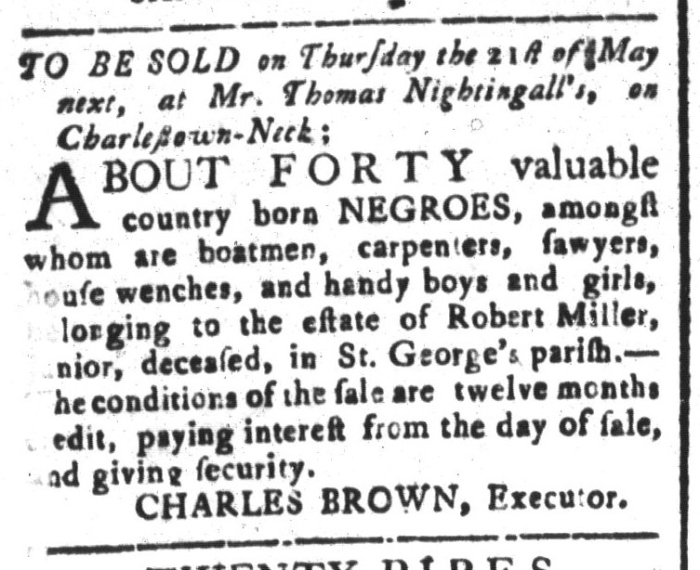 Apr 17 - South-Carolina and American General Gazette Slavery 4