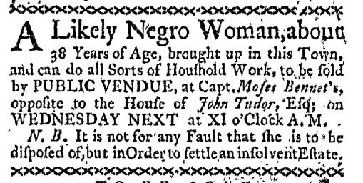 Apr 20 - Boston-Gazette Slavery 1