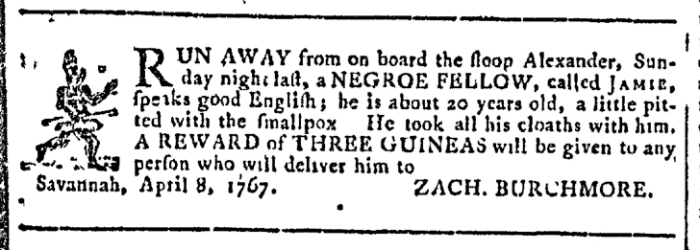 Apr 22 - Georgia Gazette Slavery 2