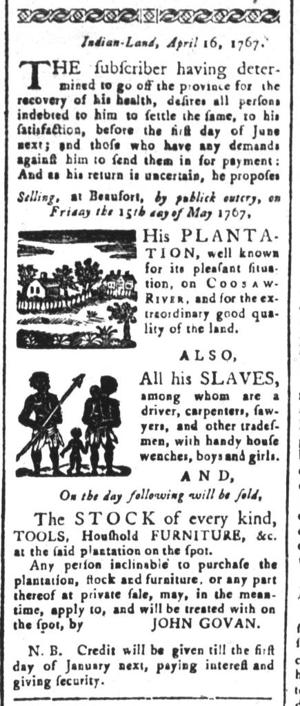 Apr 24 - South-Carolina and American General Gazette Slavery 1