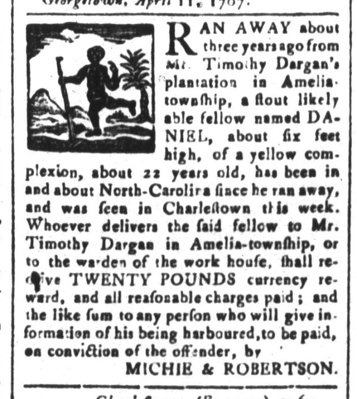 Apr 24 - South-Carolina and American General Gazette Slavery 2