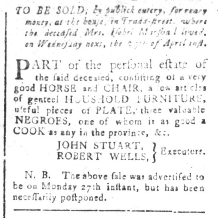 Apr 24 - South-Carolina and American General Gazette Slavery 4