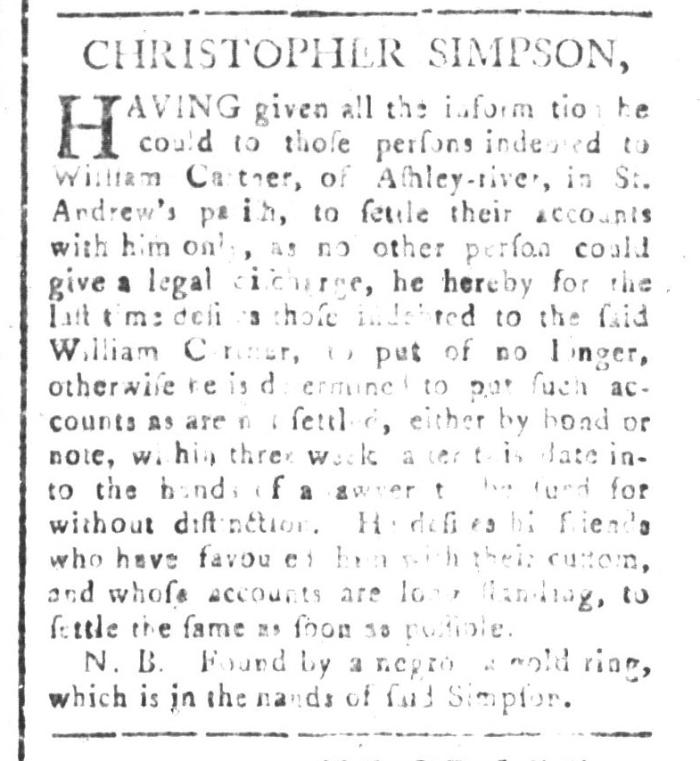 Apr 24 - South-Carolina and American General Gazette Slavery 5