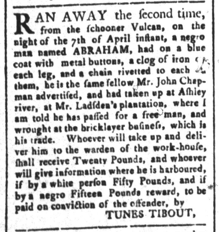 Apr 24 - South-Carolina and American General Gazette Slavery 8