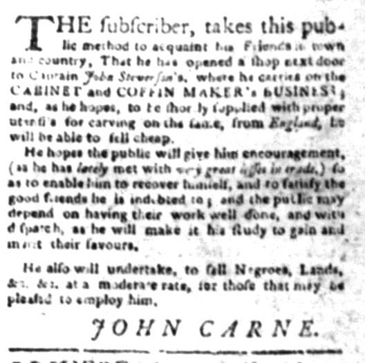 Apr 27 - South Carolina Gazette Slavery 3