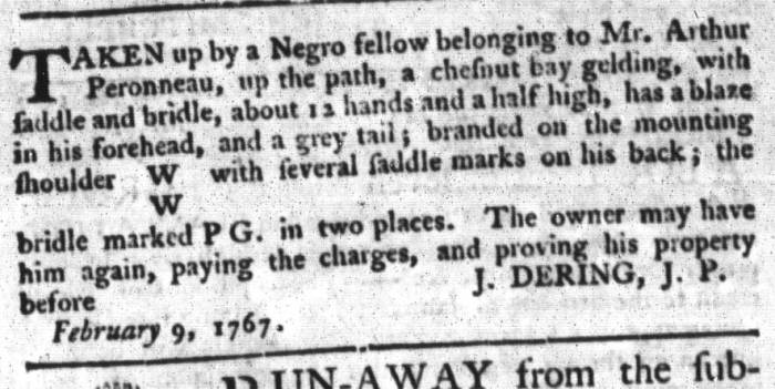 Apr 28 - South-Carolina Gazette and Country Journal Supplement Slavery 1