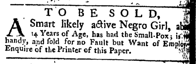 Apr 30 - New-York Gazette Weekly Post-Boy Slavery 1