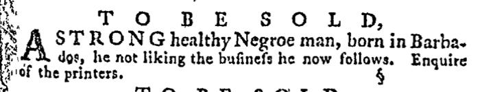 Apr 30 - Pennsylvania Gazette Supplement Slavery 1