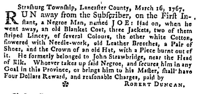Apr 30 - Pennsylvania Gazette Supplement Slavery 3