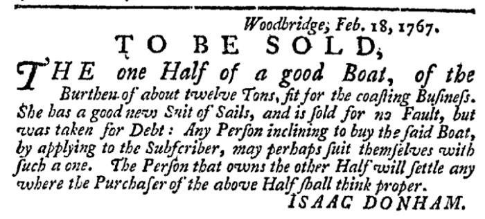 Apr 9 - 4:9:1767 New-York Gazette Weekly Post-Boy