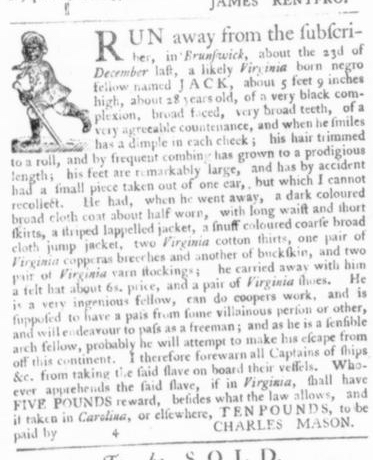 Apr 9 - Virginia Gazette Slavery 5