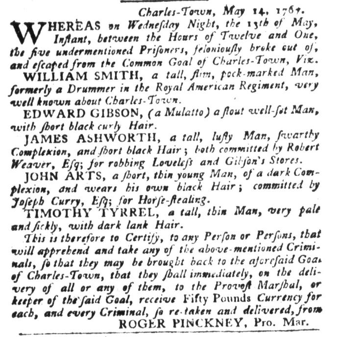Jun 2 - South-Carolina Gazette and Country Journal Slavery 6