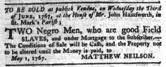 Jun 2 - South-Carolina Gazette and Country Journal Supplement Slavery 4